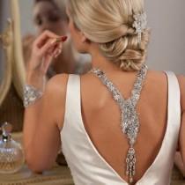wedding photo - Back Necklace - Unique Idea