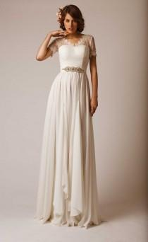 wedding photo - Short Sleeved/Cap Sleeved/Off The Shoulder Sleeves Wedding Gown Inspiration