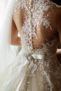 wedding photo - Valuz Reyes Wedding Dress Back - Illusion, Lace, Pearl, Sparkle, It Has It All!
