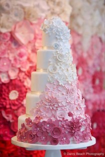 wedding photo - Wedding Cake Ideas. Ombre Is Definitely A Popular Trend For 2013.