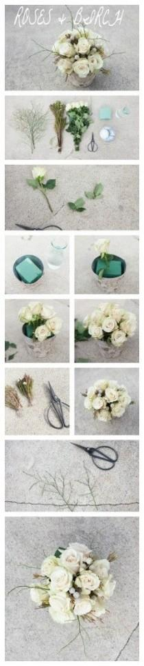 wedding photo - Creating A Woodland Rose & Birch Centerpiece