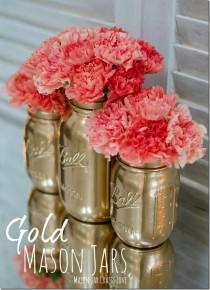 wedding photo - How To Spray Paint Jars