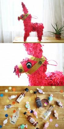 wedding photo - Liquor Airplane Bottles In A Pinata… What A Great Bachelorette Party Idea!