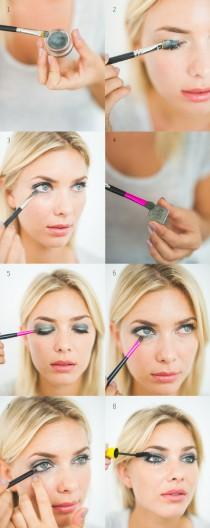 wedding photo - DIY The Grey Smokey Eye.