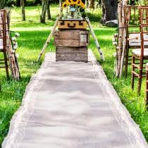 wedding photo - Wedding Aisle Runner with lace for your special day