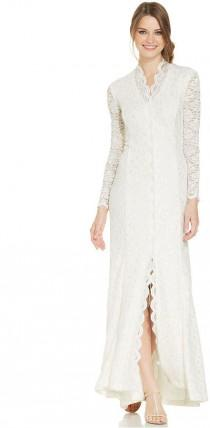 wedding photo - Alex Evenings Long-Sleeve Scalloped Lace Gown