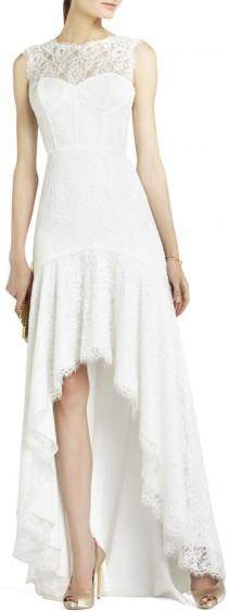 wedding photo - Clarissa Sleeveless Lace High-Low Gown