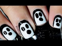 wedding photo - Easiest Ghost Nails Ever