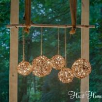 wedding photo - Easy DIY Outdoor Chandelier