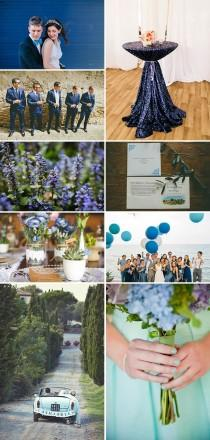 wedding photo - Blue Wedding Decor