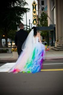 wedding photo - Rainbow Themed Wedding Inspiration