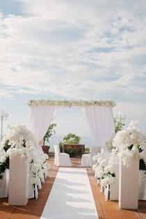 wedding photo - Gorgeous Wedding Ceremony Decor At Capri Palace In ...