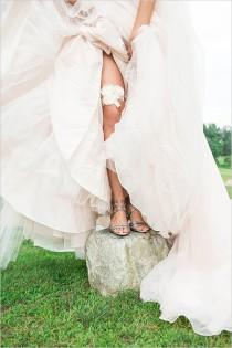 wedding photo - White and Chevron Wedding