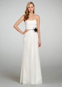 87e652eca0c3 Textured Strapless A-line Bridesmaid Dess with Draped Bodice