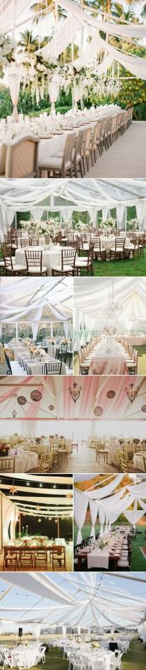wedding photo - 40 Beautiful Ways To Decorate Your Wedding Tent