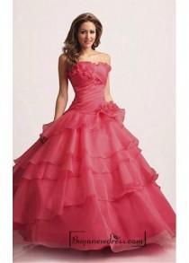 wedding photo - Beautiful Organza Strapless Frill Layered Gown