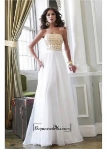 wedding photo - Alluring Chiffon Strapless Neckline Floor-length A-line Evening Dress