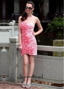 wedding photo - Matte Silk like & 30A Net Strapless Neckline Short Prom Dress
