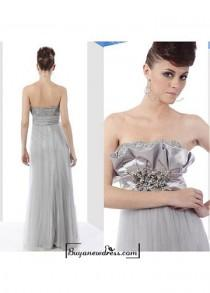 wedding photo - Strapless Empire Prom Dress 80036