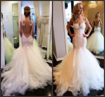 wedding photo - Discount Vintage Lace Mermaid Backless Wedding Dresses Sheer Bolero Sweetheart See Through Puffy Bridal Wedding Dress Gowns 2015 Vestidos De Novia Online with $124.98/Piece