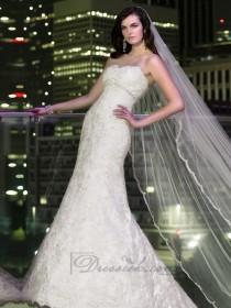 wedding photo - Sweetheart A-line Beading Lace Appliques Wedding Dresses with Beading Belt