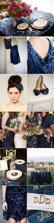 wedding photo - Current Crush: Navy Sequins