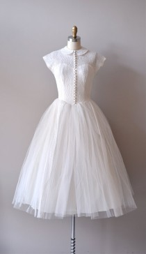 wedding photo - R E S E R V E D...lace 50s Wedding Dress / 1950s Dress / If Fates Allow