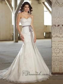 wedding photo - Fit and Flare Sweetheart Lace Appliques Wedding Dresses