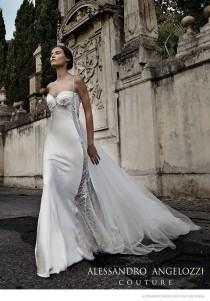 wedding photo - Bianca Balti Stuns In Wedding Gowns For Alessandro Angelozzi Couture 2015 Bridal Shoot