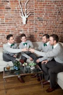 wedding photo - 17 Smart Casual Looks With Sweaters For A Groom And His Men