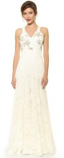 wedding photo - Rebecca Taylor Embellished Lace Gown