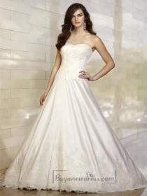 wedding photo - Elegant A-line Sweetheart Lace Vintage Wedding Dresses