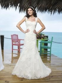wedding photo - Beaded Alencon Lace And Tulle Trumpet Gown With Modified Sweetheart Neckline