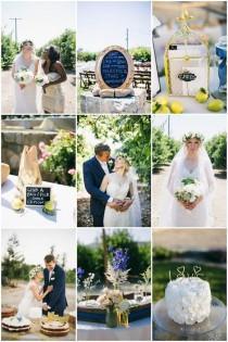 wedding photo - Relaxed and Beautiful DIY Lemon Grove Wedding