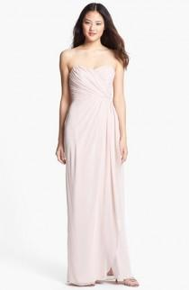 wedding photo - Dessy Collection Draped Chiffon Gown