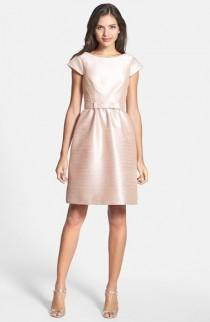 wedding photo - Alfred Sung Woven Fit & Flare Dress