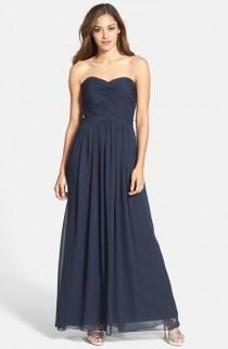 wedding photo - Dessy Collection Strapless Ruched Chiffon Gown