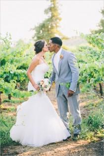 wedding photo - Pink and Grey Vineyard Wedding