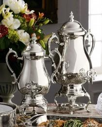 wedding photo - Silver-Plated Coffee Urns