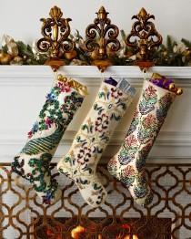 wedding photo - Kim Seybert       Sugarplum Christmas Stockings
