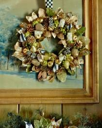 wedding photo - MacKenzie-Childs				 		 	 	   				 				Small Tuxedo Christmas Wreath