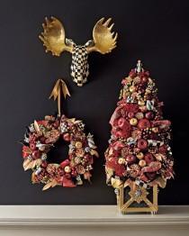 wedding photo - MacKenzie-Childs       Large Gala Christmas Wreath