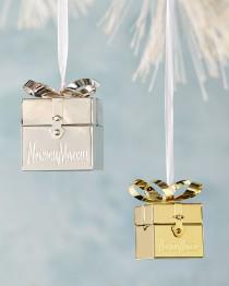 wedding photo - Neiman Marcus Gift Box Christmas Ornament
