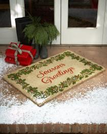 wedding photo - MacKenzie-Childs				 		 	 	   				 				Season's Greetings Door Mats