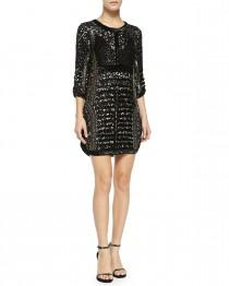 wedding photo - Parker Evening       Petra Sequined & Beaded Cocktail Dress