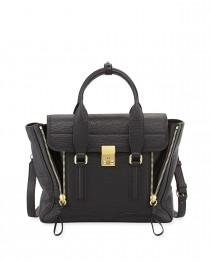 wedding photo - 3.1 Phillip Lim				 		 	 	   				 				Pashli Medium Zip Satchel Bag, Black