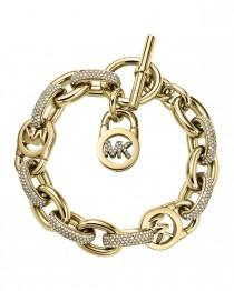 wedding photo - Michael Kors				 		 	 	   				 				Pave Golden MK Toggle Bracelet