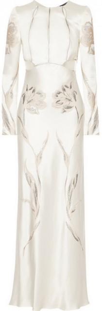 wedding photo - Alexander McQueen Embroidered satin-twill gown