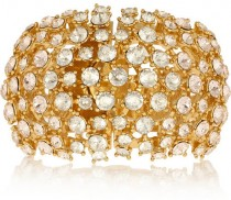 wedding photo - Alexander McQueen Gold-plated Swarovski crystal cuff