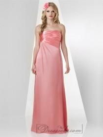 wedding photo - Tulip Strapless Pleated Bodice Ruffled Bridesmaid Dresses